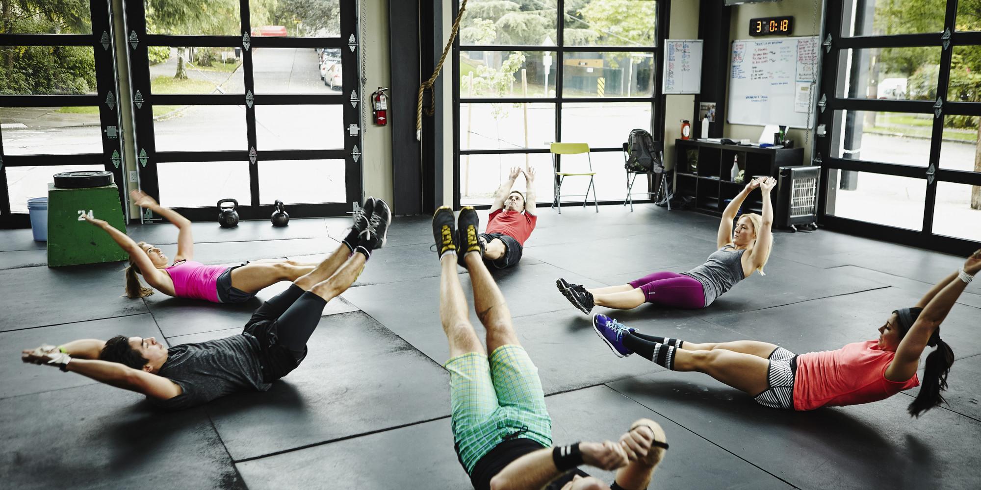 Image du slider - Employés dans un cours de gymnastique