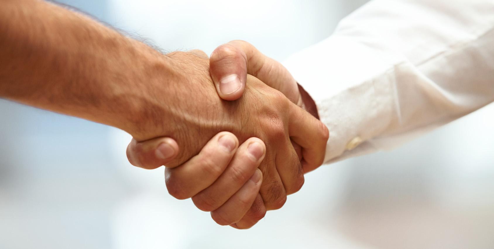 Image du slider - Poignée de main